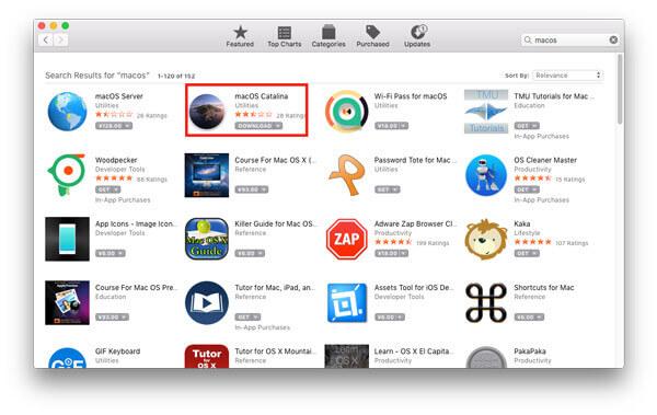 Aktualisieren Sie Mac OS X