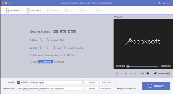 Video Converter Datei laden