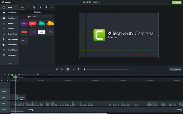 Videoeditor Camtasia