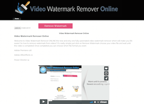 Remove watermark from video online