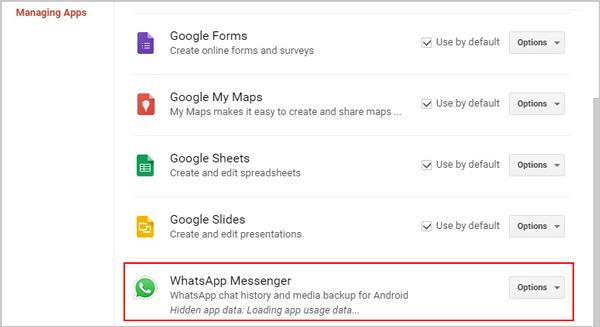 Afficher sur Google Drive