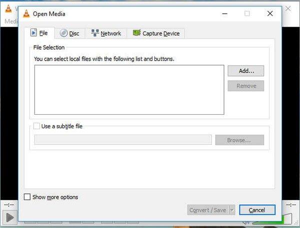 VLC convert save