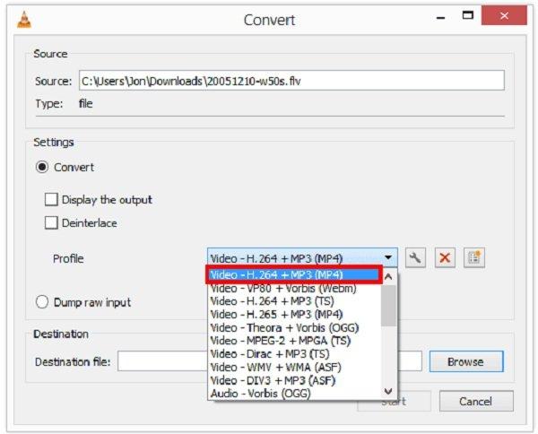 VLC MP4 Profil konvertieren