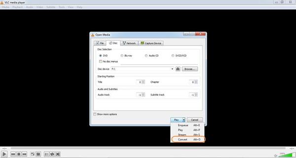 VLC rippen DVD auf MP4 Mac