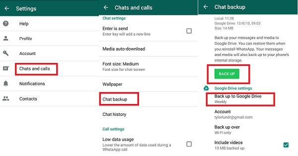 Whatsapp Google Drive Backup