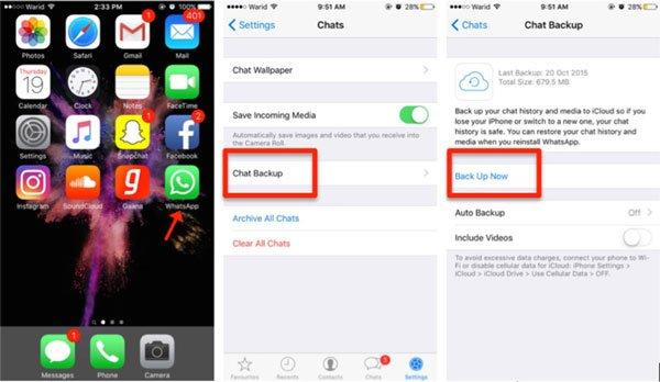 Whatsapp iCloud Backup