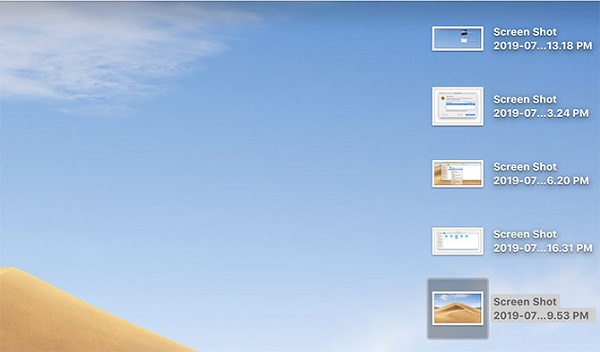 Wohin gehen Screenshots Fotos Mac