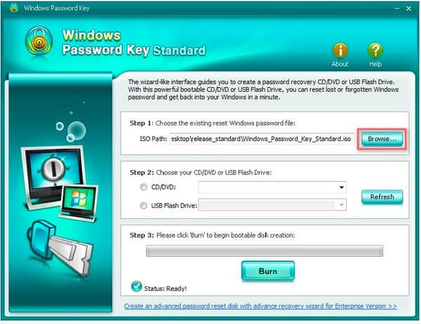 Windows Password Key Standard Parcourir