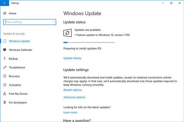 Windows Updateの