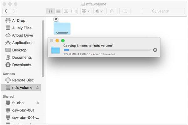 Ecrire sur ntfs mac