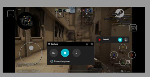 Gameplay d'enregistrement de la barre de jeu XBOX