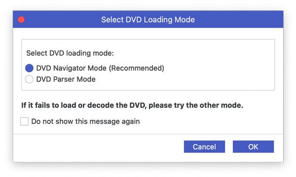 Wählen Sie den DVD-Lademodus