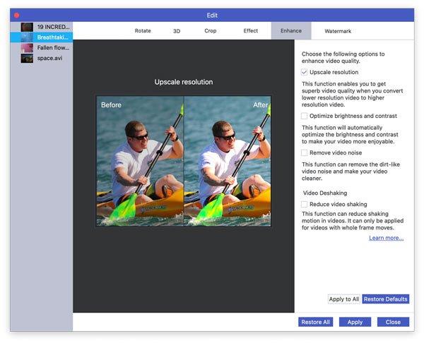 Hochwertige Videoauflösung auf dem Mac