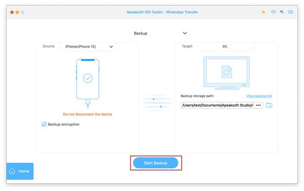Sauvegarder l'iPhone Whatsapp sur Mac
