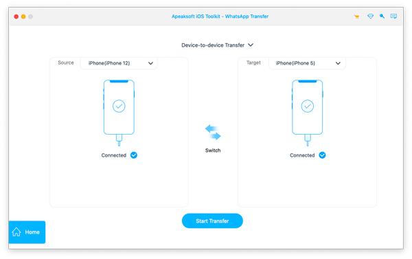 Connectez les deux appareils iPhone
