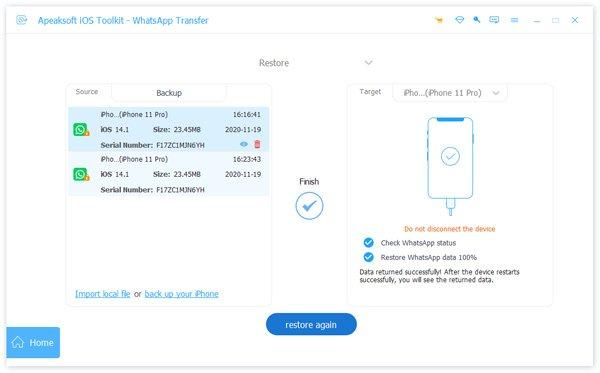 Restaurer Whatsapp sur iPhone