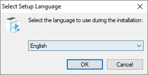 Sélectionnez la langue d'installation