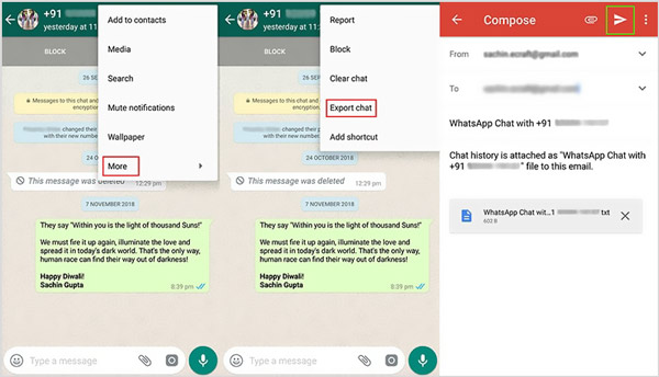Transférer WhatsApp d'Android vers iPhone avec e-mail