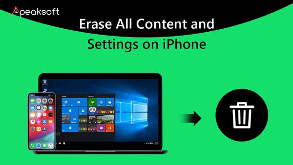 Löschen Sie alle Inhalte und Einstellungen auf dem iPhone